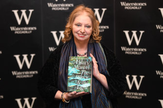 Hilary Mantel at a book signing for her new book The Mirror and the Light, the final book in her Wolf Hall trilogy.