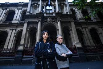 Anjali Sharma, 16, and her litigation guardian Sister Brigid Arthur, 86.