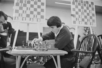Georgian chess player and women's world chess champion Nona Gaprindashvili of the Soviet Union.