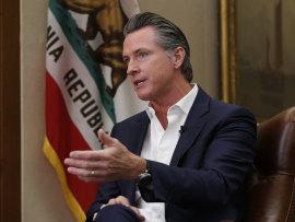 California's Governor Gavin Newsom.