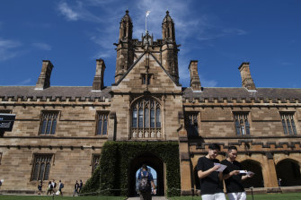 The University of Sydney, where the vice-chancellor Michael Spence earned $1.53 million, including non-monetary benefits worth $613,000, last year.