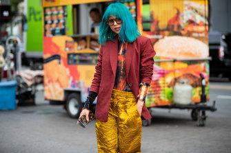 Margaret Zhang during New York Fashion Week in 2019.