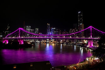 Brisbane's Story Bridge, Brisbane City Hall and the Roma Street and South Bank Parklands will be lit up pink on Friday in memory of Hannah Clarke and her children.