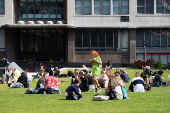 Students at the University of Technology, Sydney. The government says the fee changes will fund up to 100,000 places by 2030.
