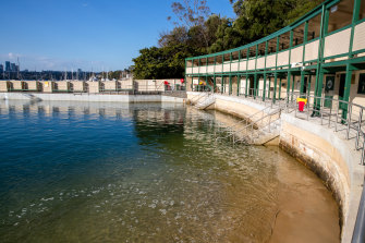 Dawn Fraser Baths has been fully restored but is closed because of COVID regulations.
