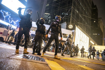 Police continued to disperse protesters in Hong Kong over the Christmas and new year period.