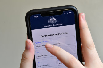 The government wants at least 40 per cent of Australians to download the contact tracing app.