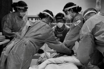 Pandemic training was held daily for all staff treating suspected or positive COVID patients.