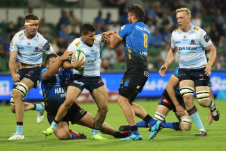 Izaia Perese was a stand-out in a beaten Waratahs side.