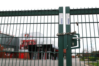 The gates are shut at Bournemouth FC, who have had a player test positive to coronavirus.