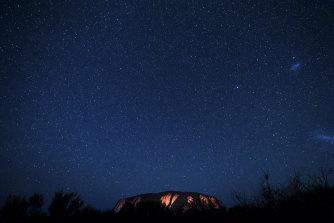 The stars over Uluru.
