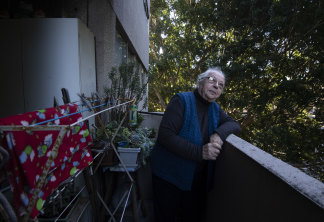 Anna Kovic, 83, is depressed about the prospect of moving. The towering fig tree outside her window was her height when she first moved into the estate in 1972.