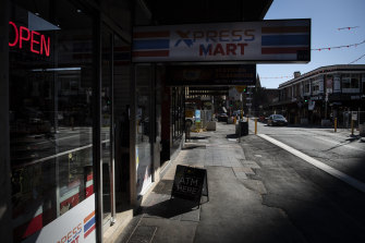 The quiet streets of Sydney during the lockdown which has had a major impact on business.