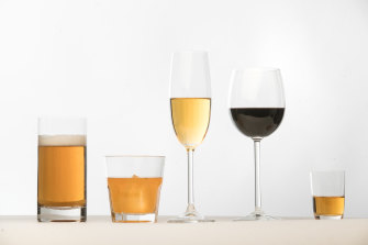Some cancers are associated with drinking alcohol.