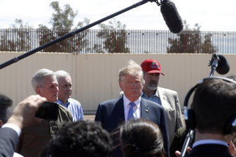 President Donald Trump visited a new section of the border wall in Calexico earlier this year.