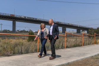 Transport Infrastructure Minister Jacinta Allan and the Department of Transport's Jeroen Weimar are urging motorists to be patient as a construction blitz in the western suburbs gets under way.