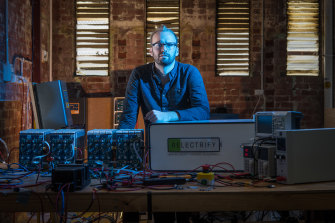Relectrify co-founder Daniel Crowley.The Melbourne startup will receive federal funding to recondition spent electric vehicle batteries to store power on commercial and industrial sites.