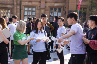 International students at the University of Sydney have embraced campus life, including by contesting SRC elections.