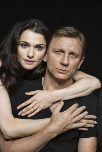 Rachel Weisz with her husband, actor and current James Bond Daniel Craig. The couple has a one-year-old daughter.