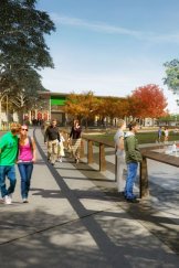 Artists impressions of West Basin public areas from the City to the Lake 2015 Strategic Urban Design Framework