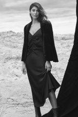 "Calvin Klein blazer, $250, from David Jones. Frame dress, $598, from Edwards Imports. Calvin Klein ""Mada 2"" boots, $390, from David Jones."