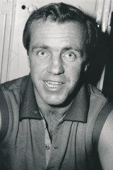 Ted Whitten in the locker room, 1969.