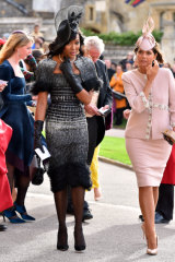 Supermodel Naomi Campbell (left) was among the best dressed at Princess Eugenie's wedding.