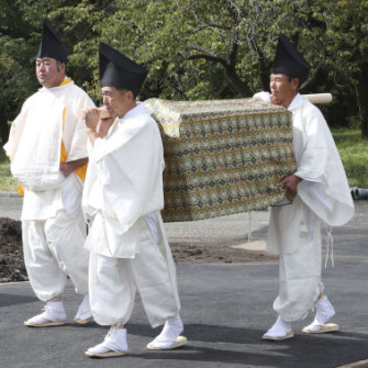 A rice offering to be used in November's thanksgiving ceremony.