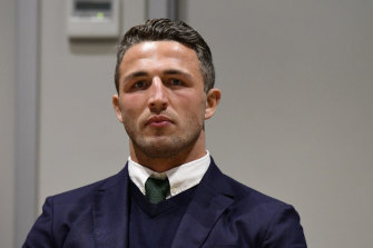 Sam Burgess will face court on December 18 over the alleged incident.  He did not appear on Wednesday.