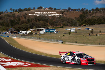 Jamie Whincup was fastest in the first practice run on Friday at Bathurst.