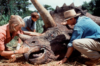 Steven Spielberg's 1993 Jurassic Park, starring Laura Dern, Joseph Mazzello and Neill.