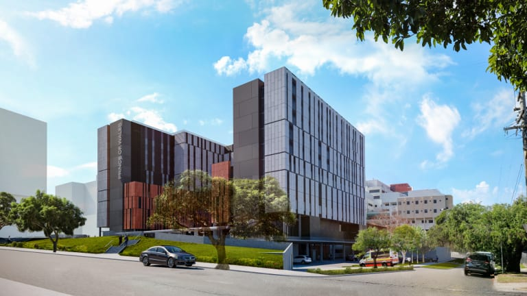 Artist impression of the new $720 million Acute Service Building planned for Prince of Wales Hospital in Randwick