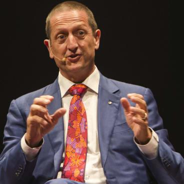 University of Sydney Professor Ian Hickie speaking on World Science Festival panel on Wednesday.