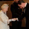 The Queen receives then British PM David Cameron in 2011.