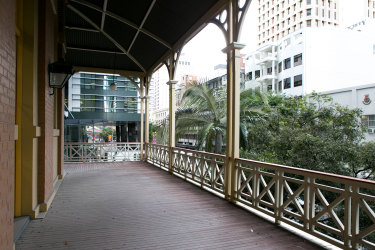 The second level verandahs of the old building were reinstated in the 1980s during the first refurbishment by the council.