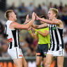 Magpies stun Lions and silence sellout Gabba crowd