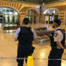 Policeman rushed to hospital after stabbing at Central Station