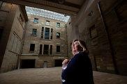 Australian Museum director Kim McKay in the new Grand Hall.