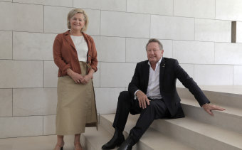 Andrew Forrest with his wife Nicola in Perth.