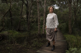 """""""This is an Australian story and I want my Australian audience to own this"""": Writer, director and actor Leah Purcell, who has interpreted a classic Henry Lawson short story for the film <i>The Drover's Wife: The Legend of Molly Johnson</i>."""