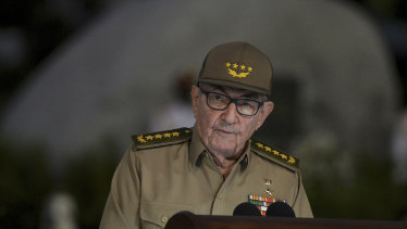 Cuba's First Secretary of the Communist Party Raul Castro in January.