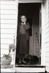Agnes Dalton, 90, with her dog Trudy.