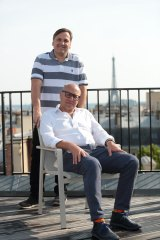 Catch Group founders Hezi (standing) and Gabby Leibovich sold the online retailer to Wesfarmers for $230 million.