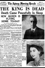 The front page of the Herald the day King George VI died.