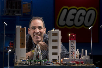Ryan 'The Brickman' McNaught at a Lego show at the Scienceworks Museum in Melbourne last year.
