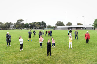 Locals at Hosken Reserve in Coburg North, who don't want it covered in synthetic grass.