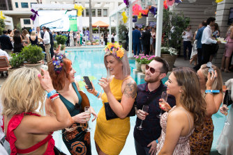 Melbourne Cup at the Ivy's Pool Club in 2018.
