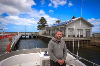 Port Albert restaurant owner and fisherman Michael Hobson can feel the wind of change blowing through the small fishing village.