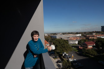 Gerri Savage at home in her apartment in Footscray.