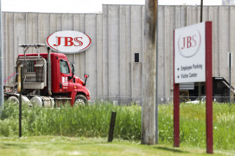 A JBS beef plant in Colorado in the United States.